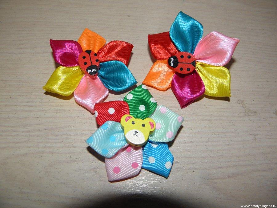 Резинки своими руками из атласных лент для детей